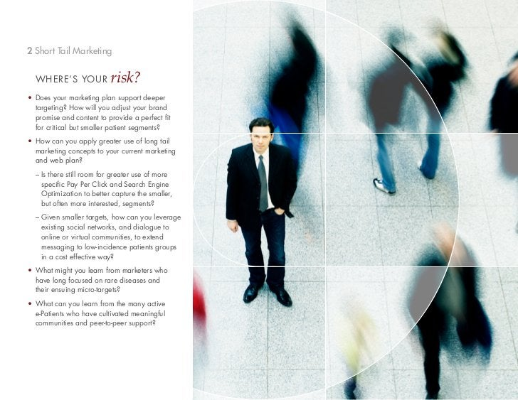 2 Short Tail Marketing  WHERE'S YOUR            risk?• Does your marketing plan support deeper  targeting? How will you ad...