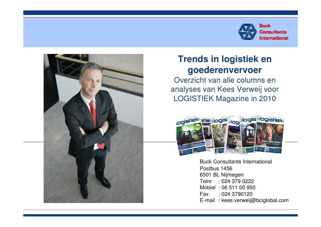 Trends in logistiek en                          goederenvervoer                        Overzicht van alle columns en      ...