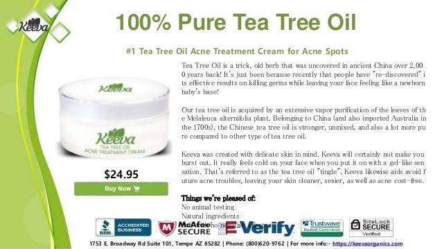 Keeva Organics - Buy Tea Tree Oil for Acne