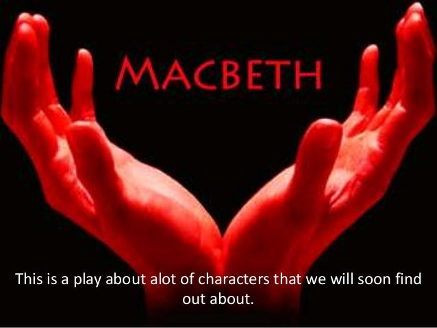 This is a play about alot of characters that we will soon find                          out about.