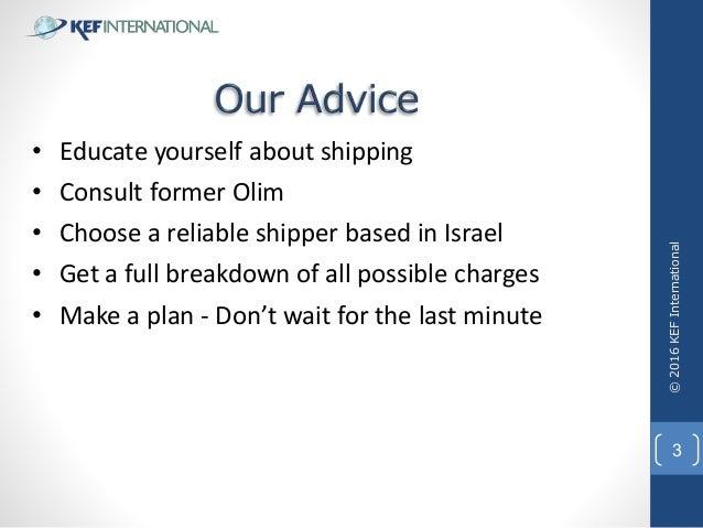 Kef Shipping to Israel Presentation Slide 3