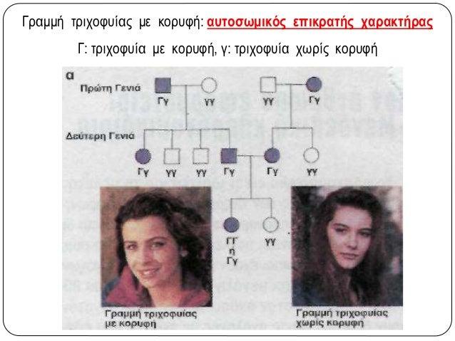 Φυλοσύνδετη υπολειπόμενη κληρονομικότητα •Αιμορροφιλία Α ( ΧΑ: φυσιολογικό, Χα: ασθενές) •Μερική αχρωματοψία στο πράσινο κ...