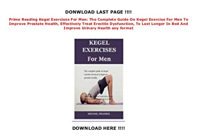 For pubococcygeus men exercises Insights Into