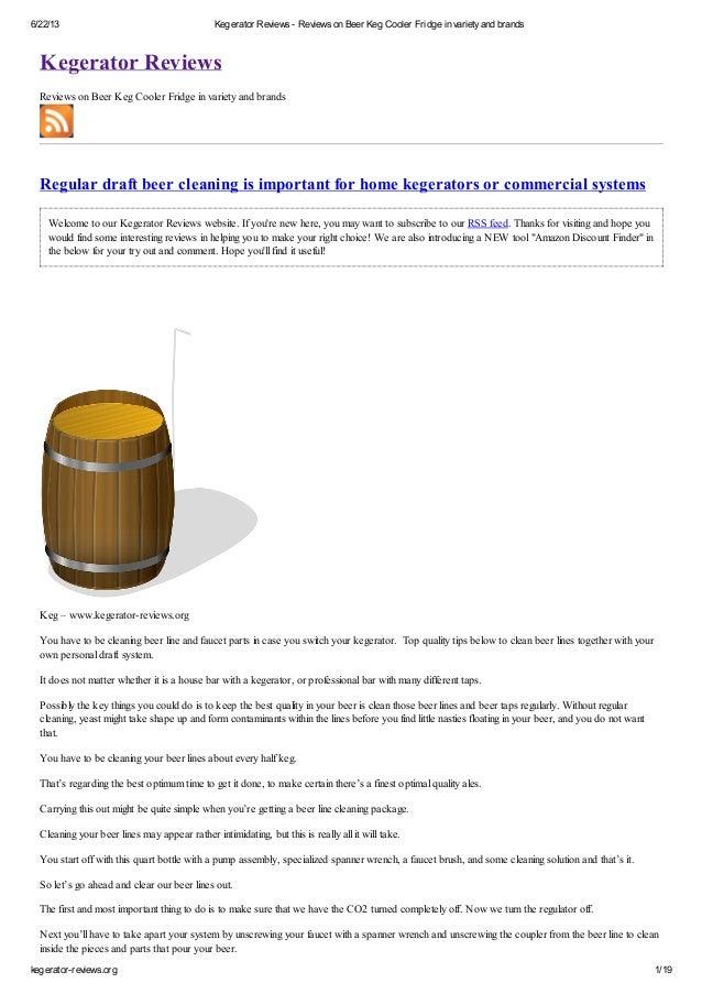 6/22/13 Kegerator Reviews - Reviews on Beer Keg Cooler Fridge in varietyand brandskegerator-reviews.org 1/19Kegerator Revi...
