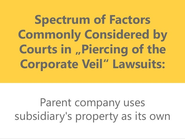 Piercing The Corporate Veil Property Management