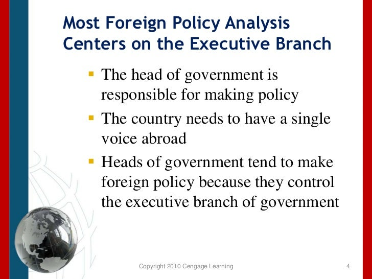 An analysis of the future involvement in foreign affairs by the united states