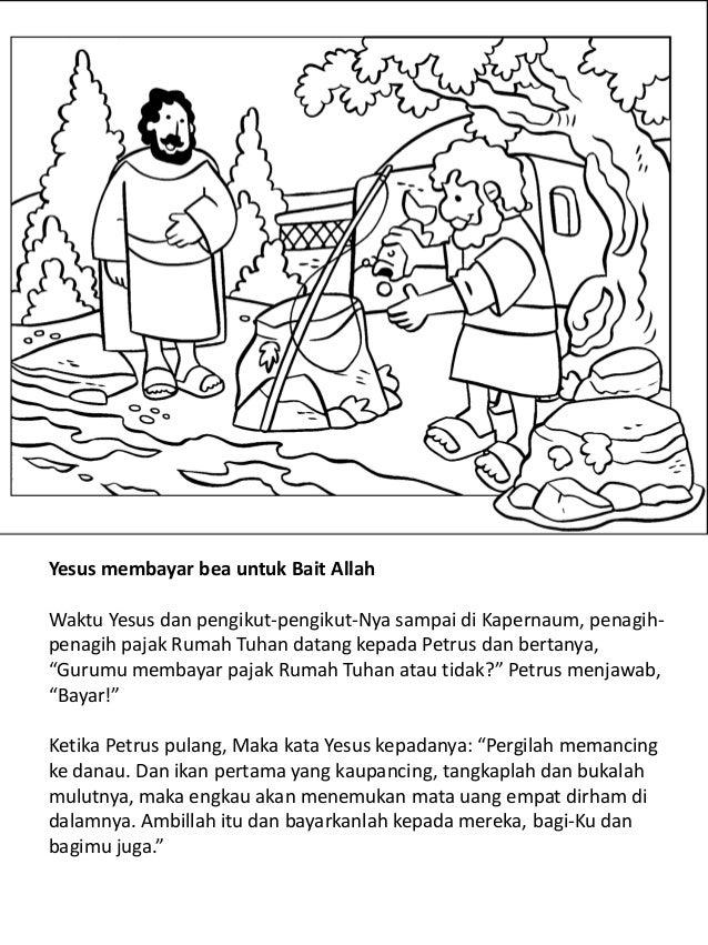 Kehidupan Yesus Untuk Anak Anak Buku Mewarnai