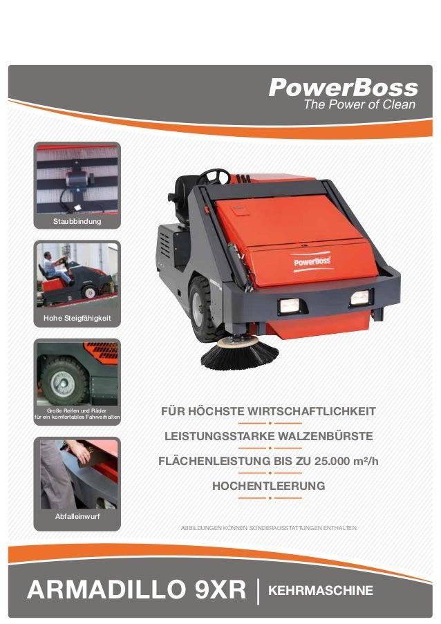 ARMADILLO 9XR   KEHRMASCHINE Staubbindung Hohe Steigfähigkeit Große Reifen und Räder für ein komfortables Fahrverhalten Ab...