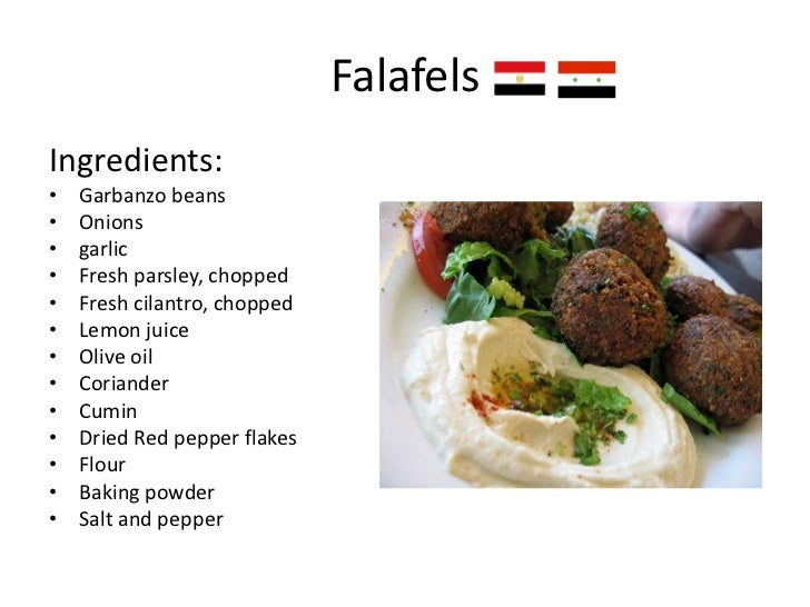Arabic for Arabic cuisine names