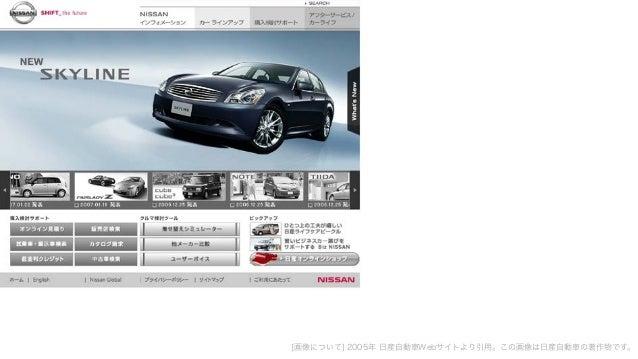 [画像について] 2005年 日産自動車Webサイトより引用。この画像は日産自動車の著作物です。