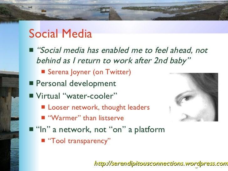 """Social Media <ul><li>"""" Social media has enabled me to feel ahead, not behind as I return to work after 2nd baby"""" </li></ul..."""
