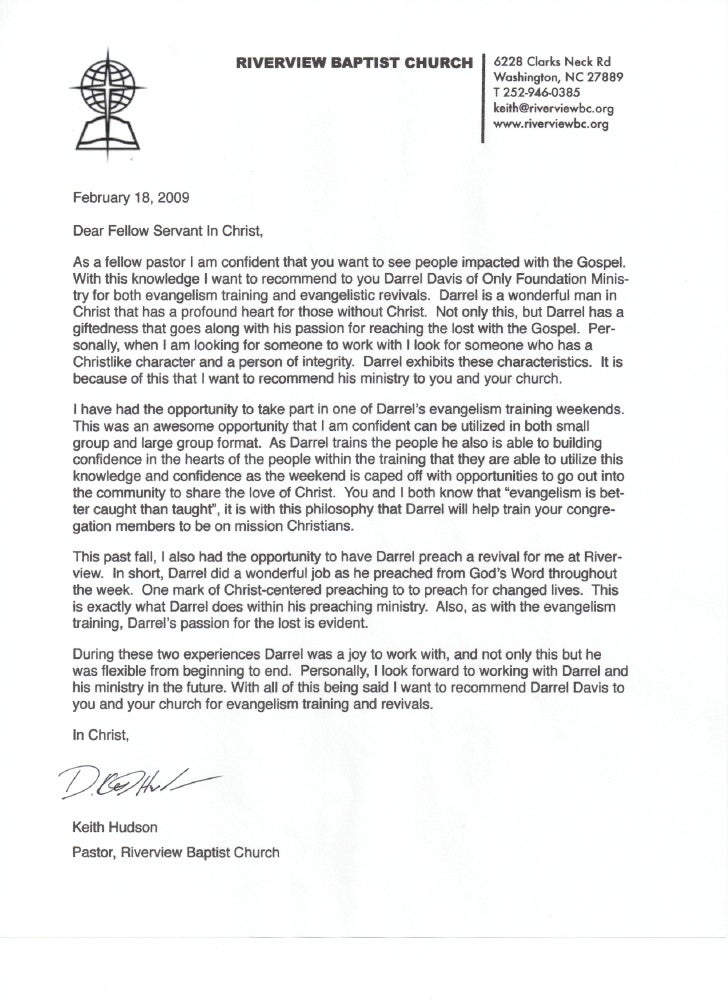 Sample college recommendation letter from pastor goalblockety keith hudson recommendation letter sample college recommendation letter from pastor altavistaventures Images
