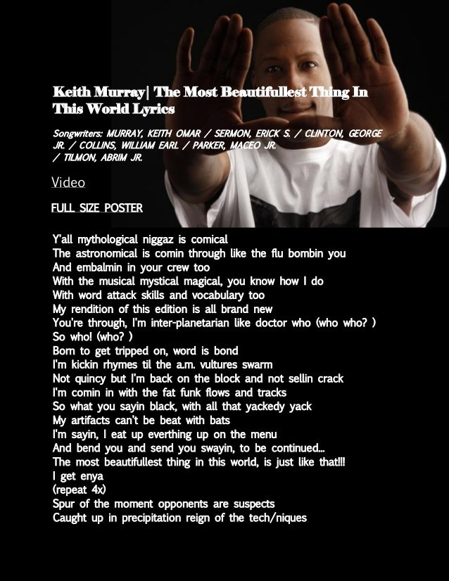 The most interesting photos in world lyrics keith murray