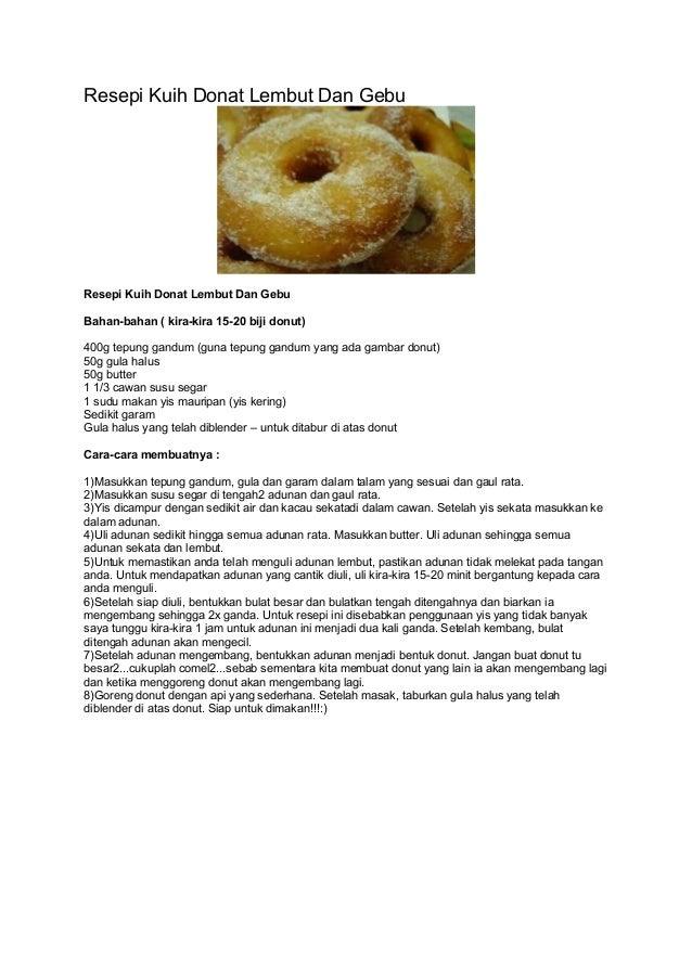 Resepi Donut Guna Tepung Kek - copd blog w