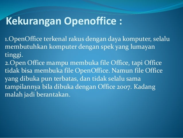 Kel 13 open office