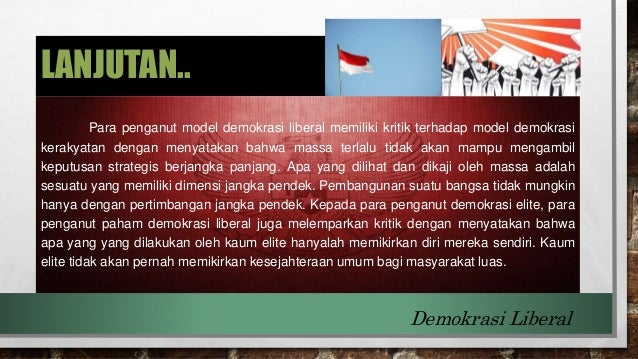 Apa Itu Demokrasi Liberal