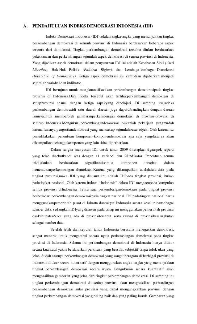 Indeks Demokrasi Indonesia