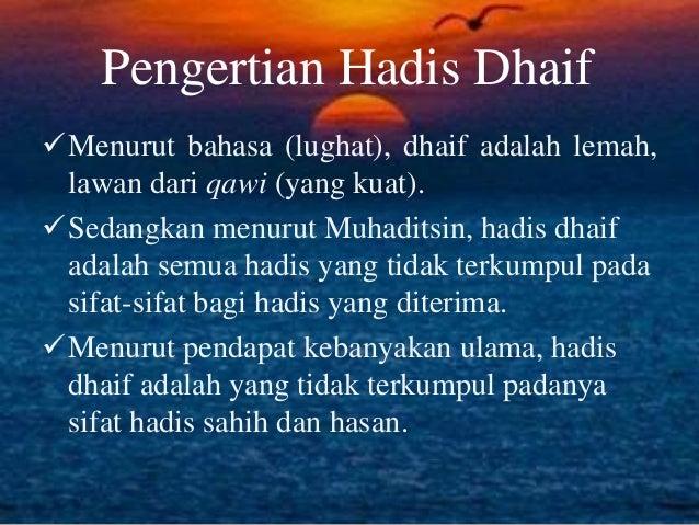 Hadist Dhaif Ulumul Hadis