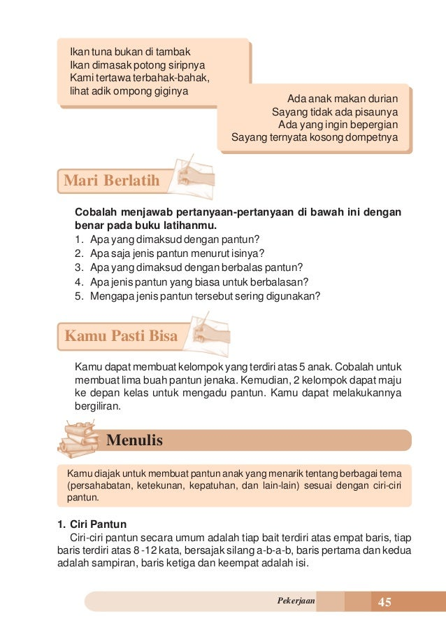Contoh Pantun Untuk Anak Sd Contoh 0108
