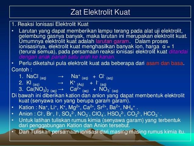 Kimia Larutan Elektrolit