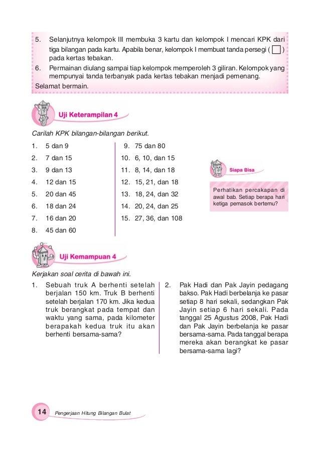 Gemar Matematika 6 Untuk Sd Mi Kelas Vi