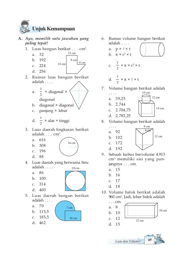 Matematika untuk sdmi kelas vi 56 ccuart Image collections