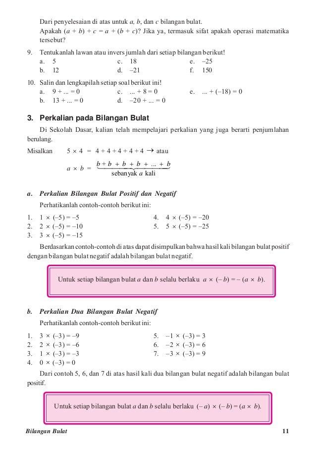 Kelas 7 matematika  damerosi damanik