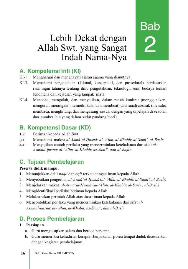 Buku Siswa Kelas Pendidikan Agama Islam Dan Budi :: CONTOH ...