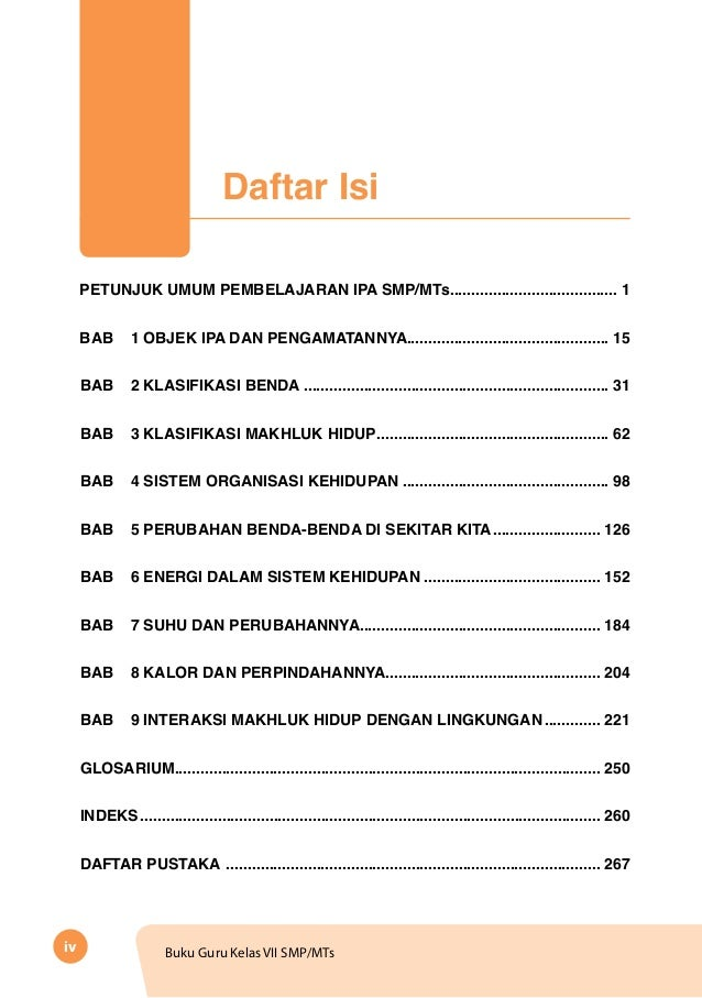 Buku Guru Ipa Kelas Smp 638 Cb Tahun Indonesia Merdeka