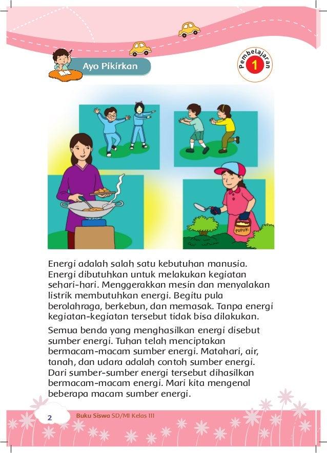 Energi Dan Perubahannya Buku Siswa Kelas 3 Tema 7