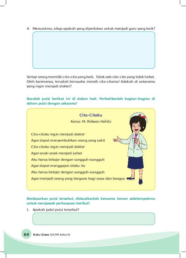 Contoh Soal Dan Materi Pelajaran 6 Contoh Pantun Cita Cita Menjadi Dokter