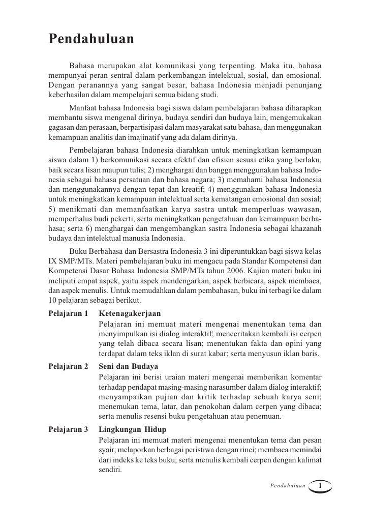 Kelas Ix Smp Bahasa Indonesia Asep Yudha