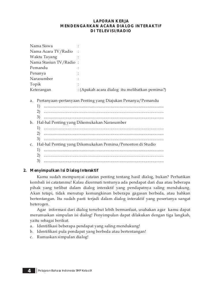 Kelas Ix Smp Bahasa Indonesia Nas Haryati