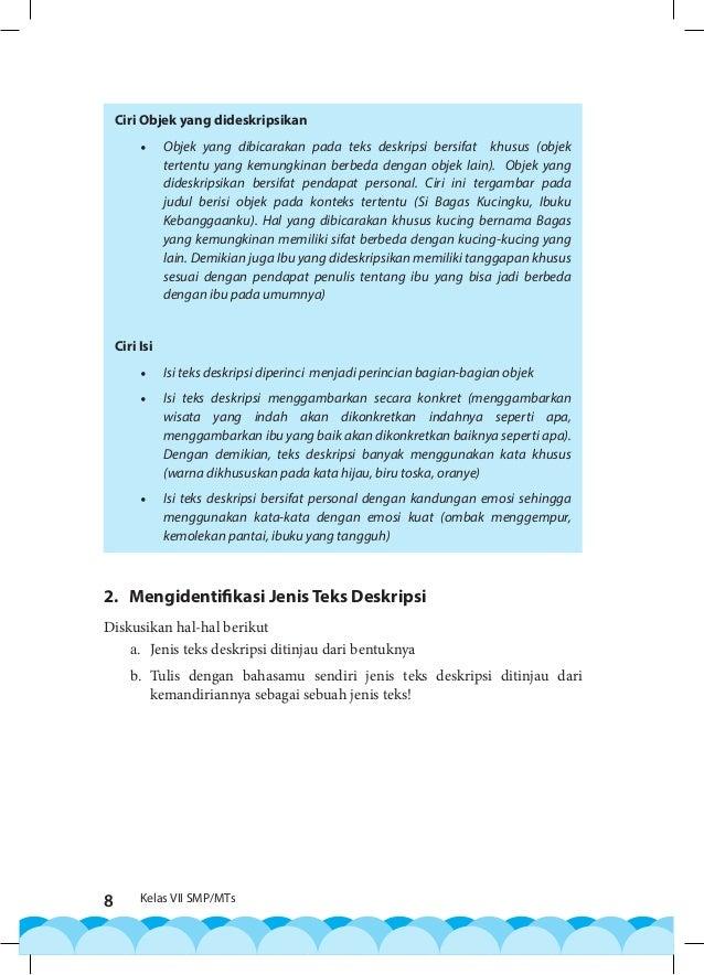 Bahasa Indonesia Kelas Vii Smp Mts 2016 P K