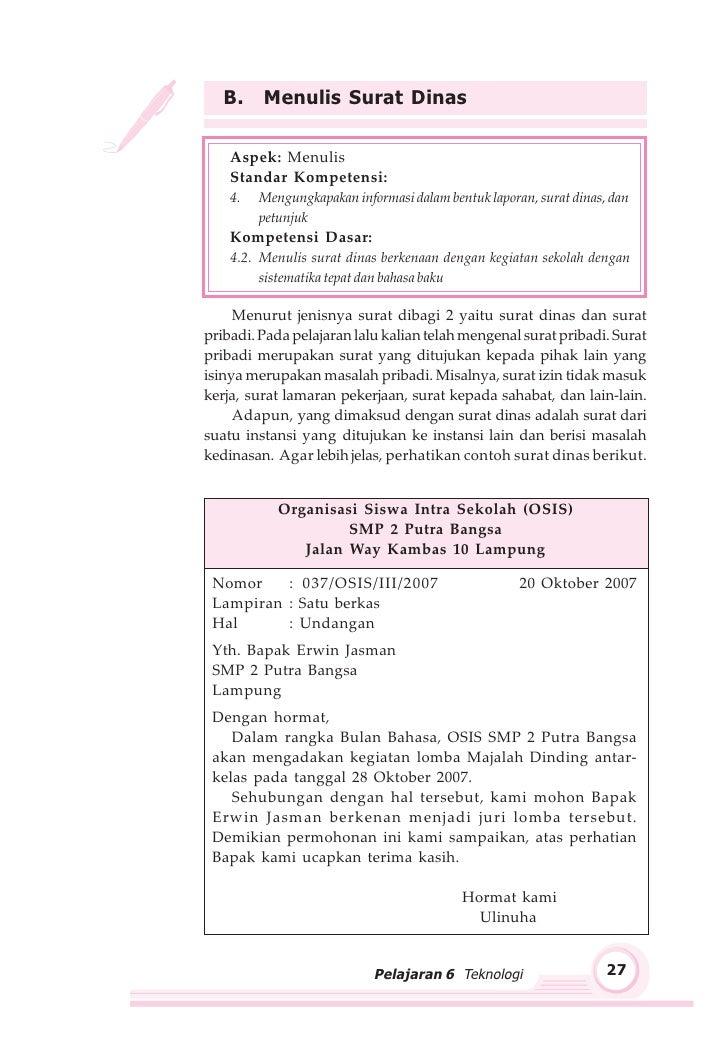 Contoh Surat Balasan Kp