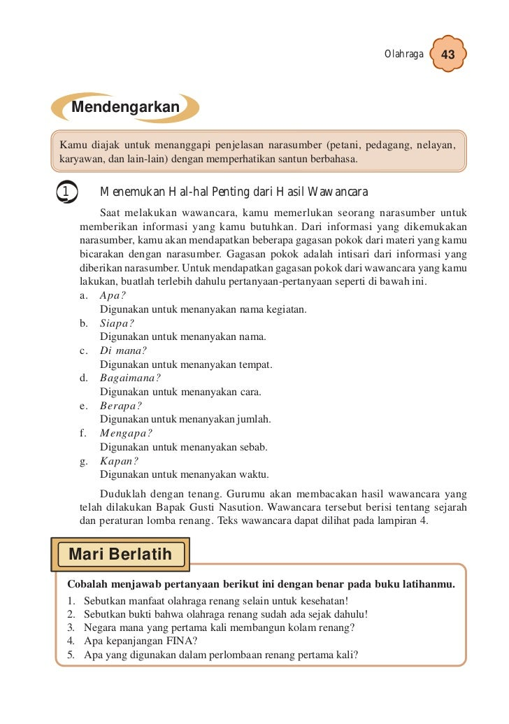 Kelas V Sd Bahasa Indonesia Umri Nuraini