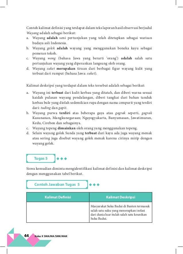 Kelas X Bahasa Indonesia Bg