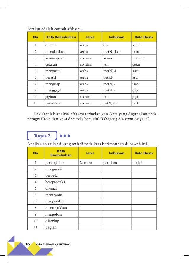 Bahasa Indonesia Kelas X Kurikulum 2013 Revisi 2016