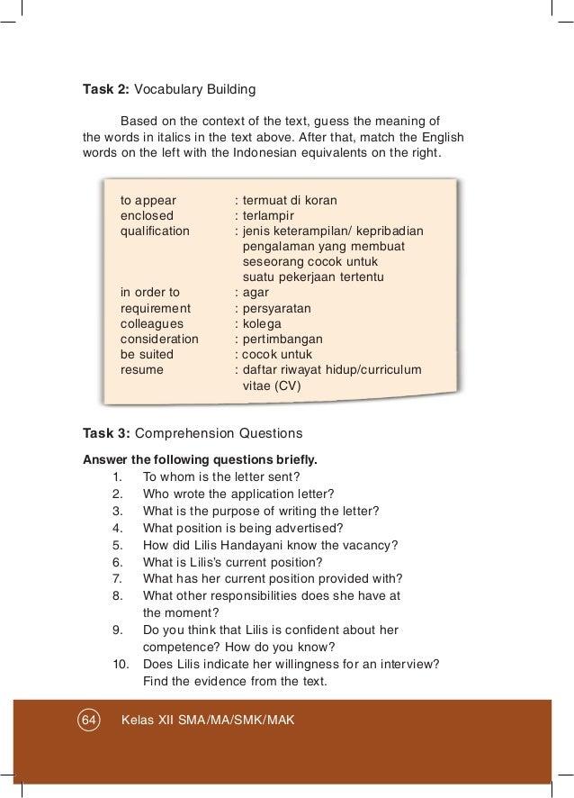 Kunci Jawaban Bahasa Inggris Kelas 12 Halaman 64 Guru Galeri