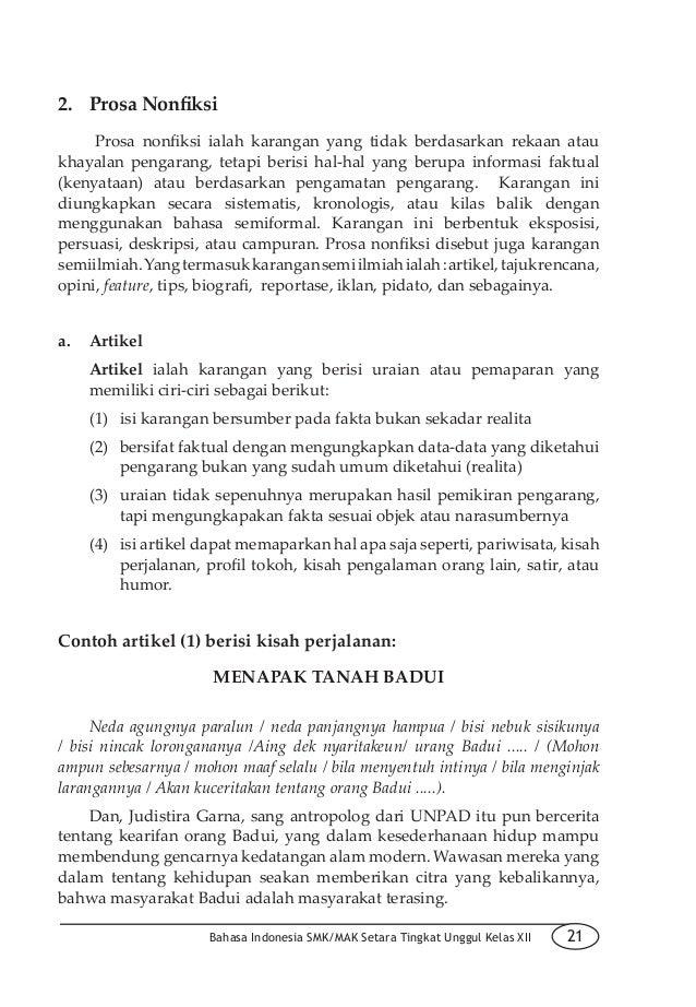 Contoh Artikel Prediktif Bahasa Jawa Singkat Kumpulan Soal Pelajaran 6