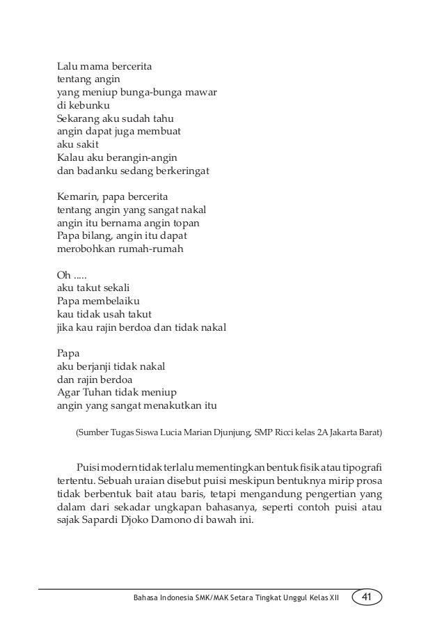 Contoh Puisi Perpisahan Kelas Xii