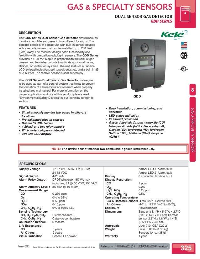 Kele Gas Specialty Sensors