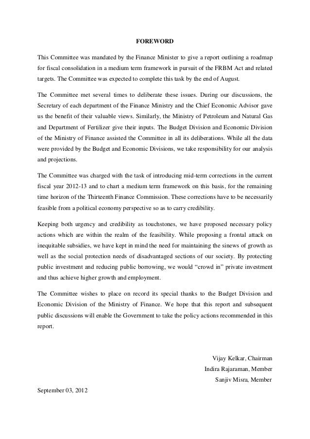 kelkar committee report