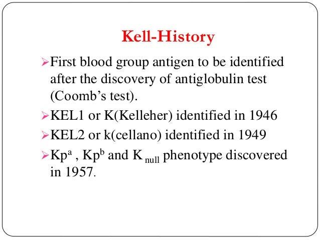 K Antigen Kell blood grou...