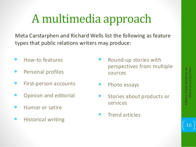 Types of writing What is public relations producing
