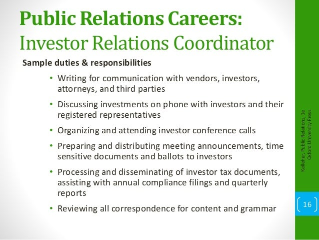 Chapter 14 Careers In Public Relations