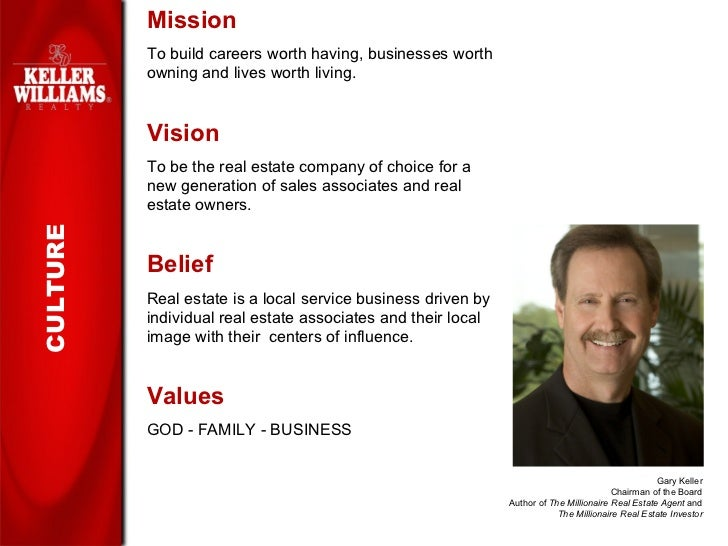 Keller Williams Realty slide show for prospective agents and recruits.