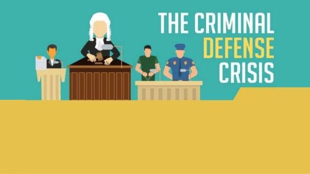 The Criminal Defense Crisis