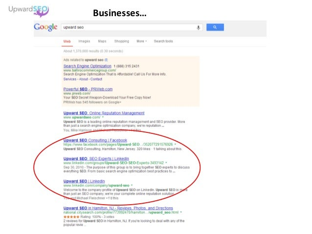 Businesses…