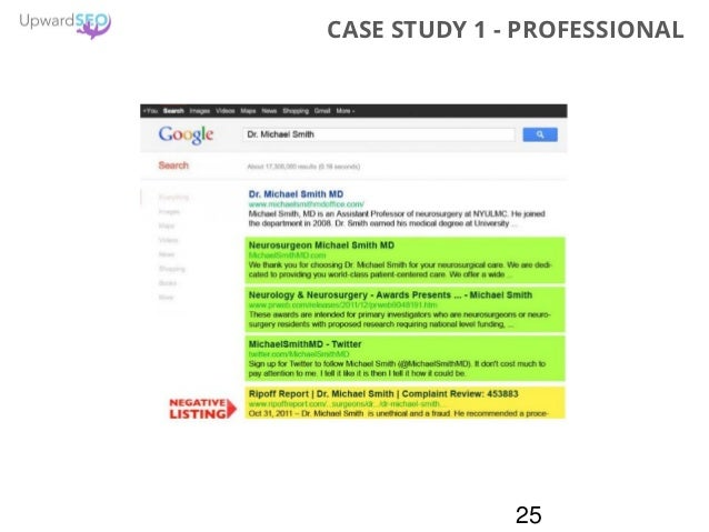 25 CASE STUDY 1 - PROFESSIONAL
